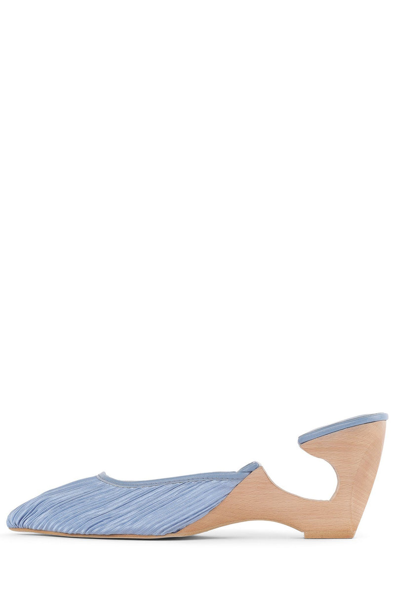 SPHERIC Heeled Mule HS Blue Fabric 6