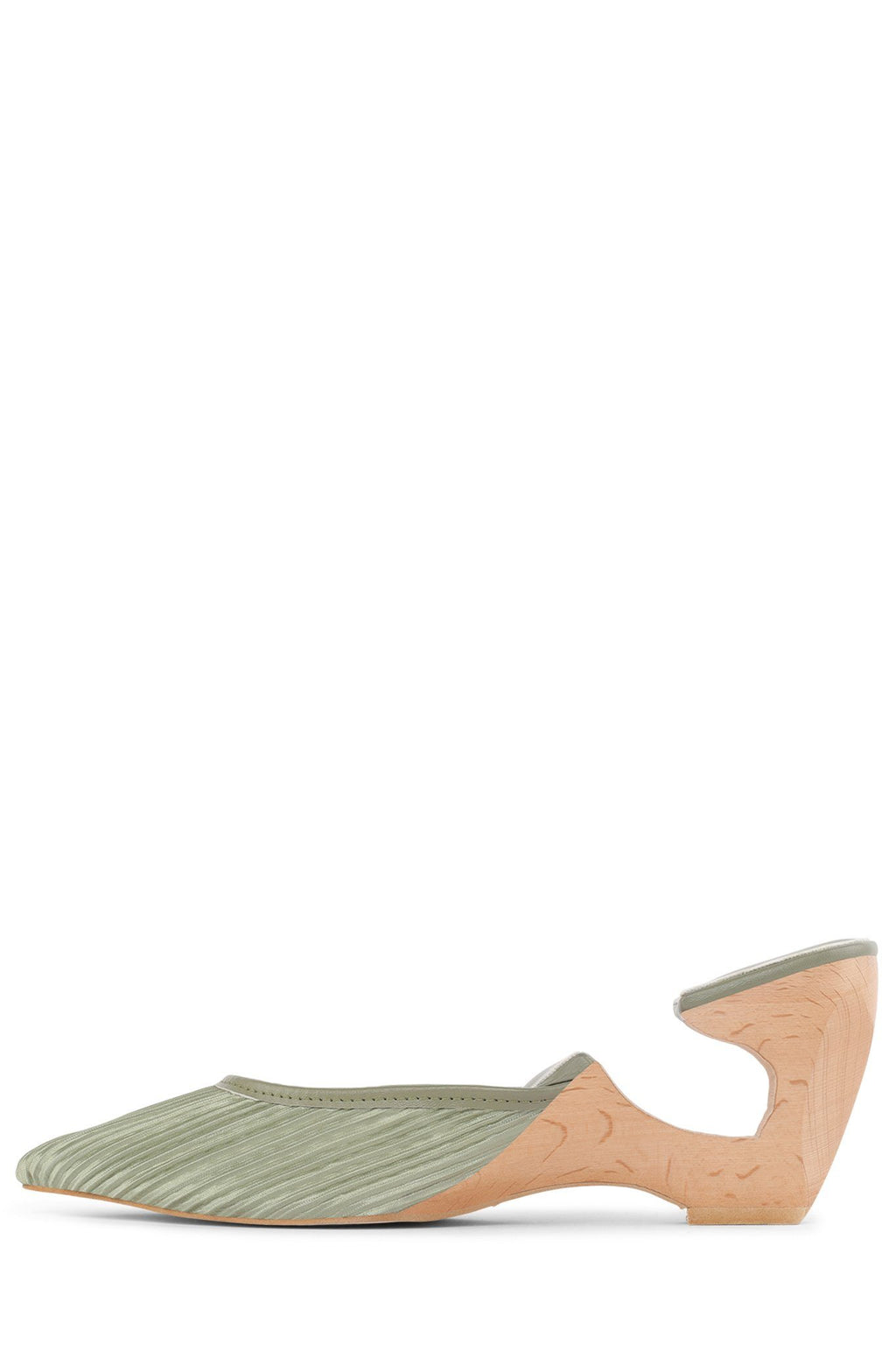 SPHERIC Heeled Mule HS Green Fabric 6