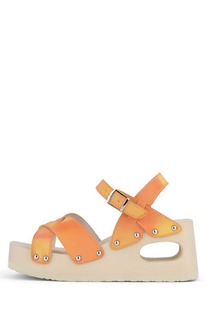 SPICED Platform Sandal HS Orange Holographic 6