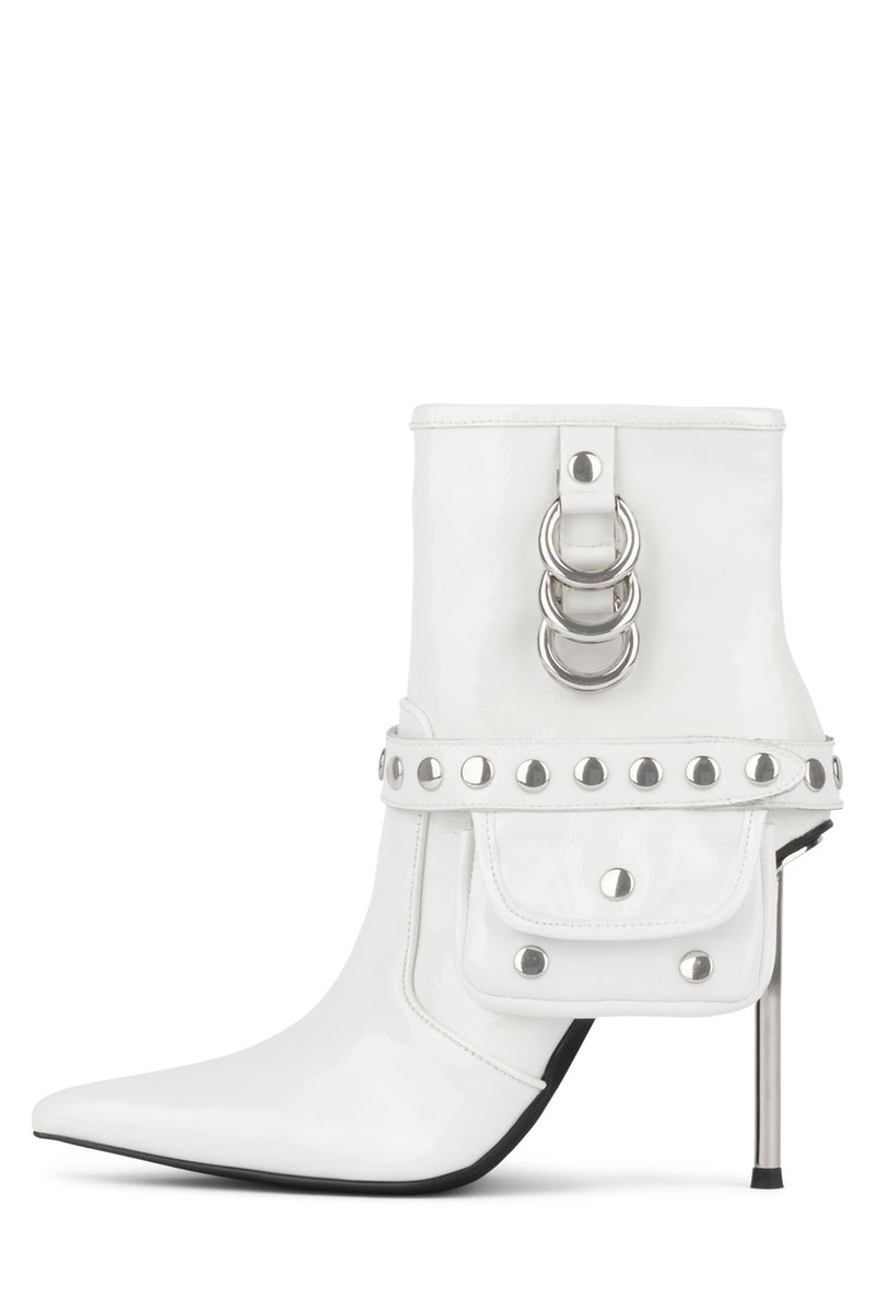 STASH Heeled Boot YYH White Crinkle Patent 6