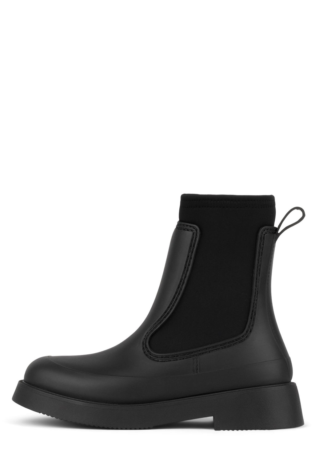 STORM Rain Boot Jeffrey Campbell Black Matte 6