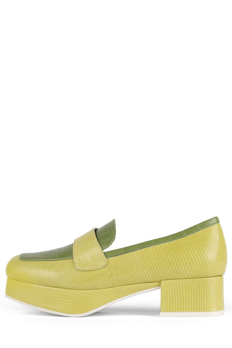 STUDENT Loafer DV Green Exotic Combo 6