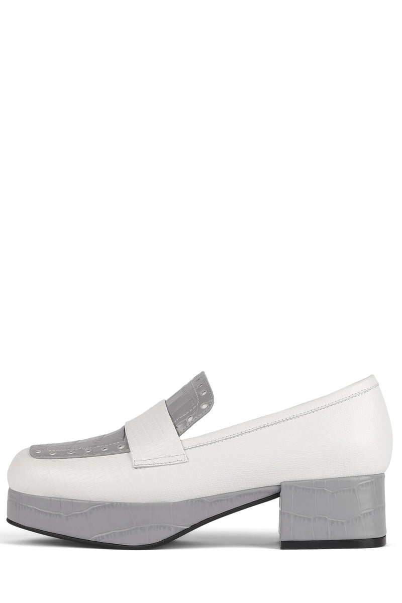 STUDENT-P Loafer DV White Grey Exotic Combo 6