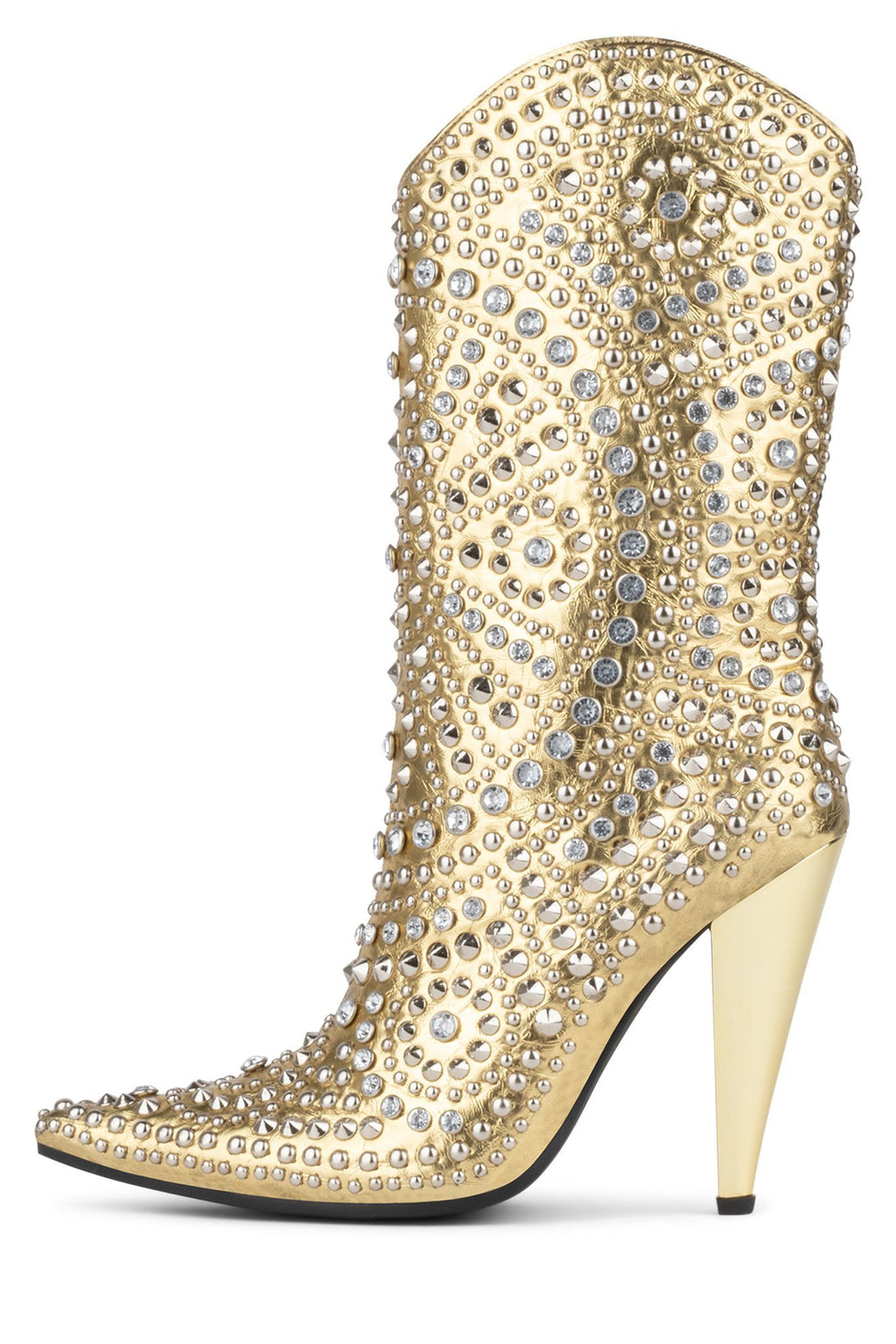 STUDLET Heeled Boot YYH Yellow Gold Silver 6
