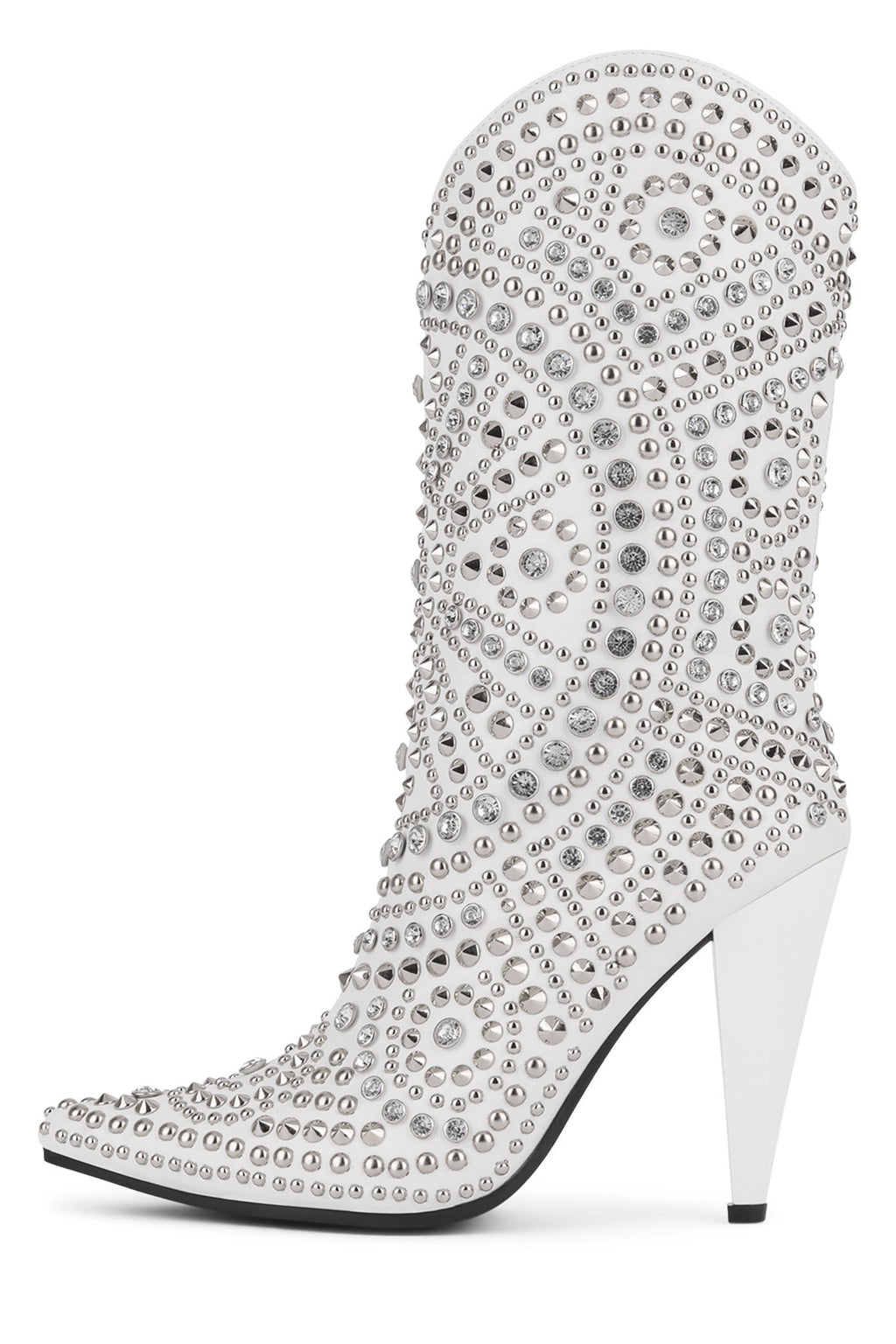 STUDLET Mid-Calf Boot YYH White Silver 7