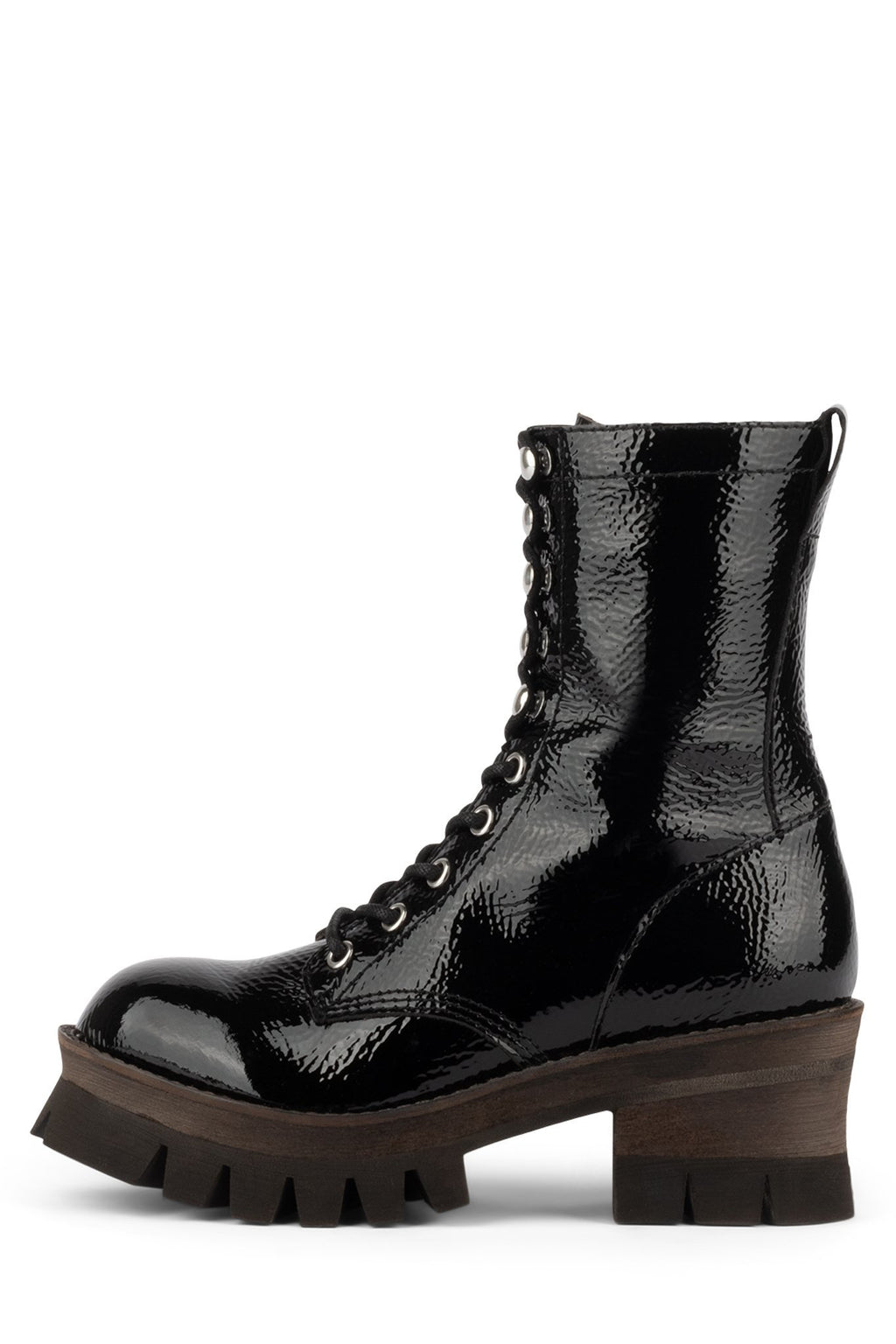 SYCAMORE3H Boot Jeffrey Campbell Black Crinkle Patent 6