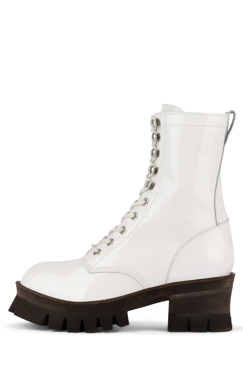 SYCAMORE3H Boot Jeffrey Campbell White Crinkle Patent 6