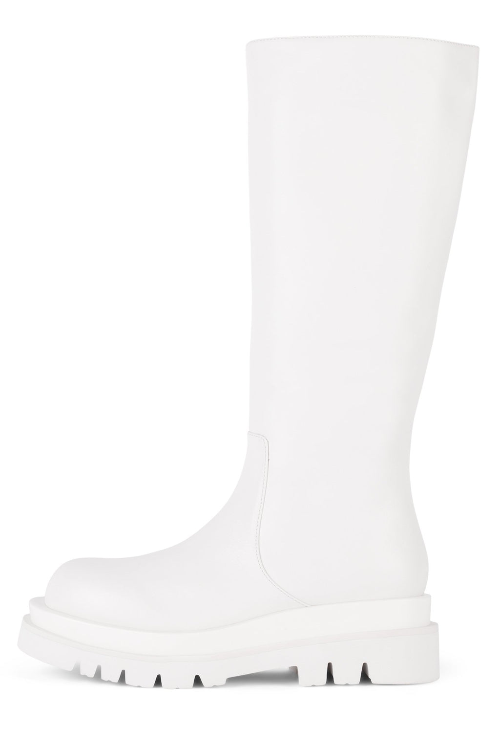 TANKED-KH Knee-High Boot Jeffrey Campbell White 6