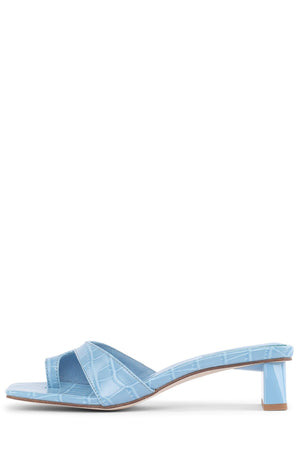 TECLADO-2 Heeled Sandal Jeffrey Campbell Blue Croco 6