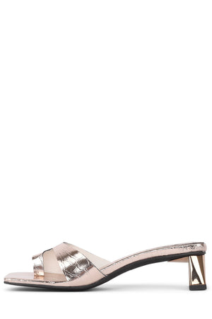 TECLADO-2 Heeled Sandal Jeffrey Campbell Gold Croco 6