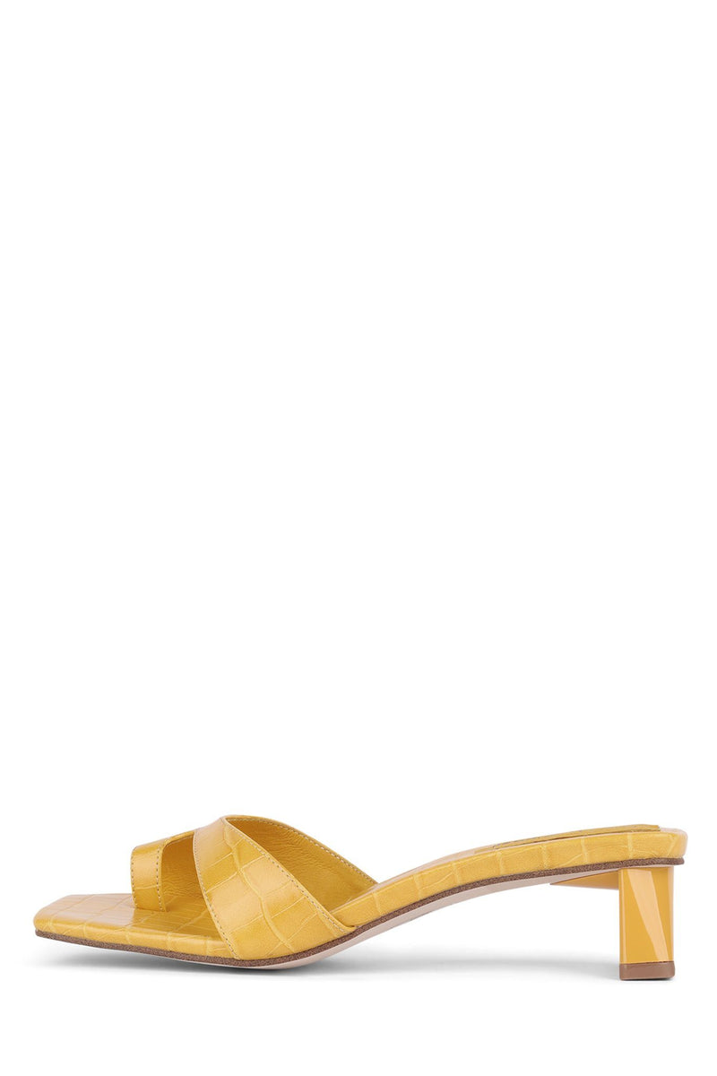 TECLADO-2 Heeled Sandal Jeffrey Campbell Yellow Croco 6