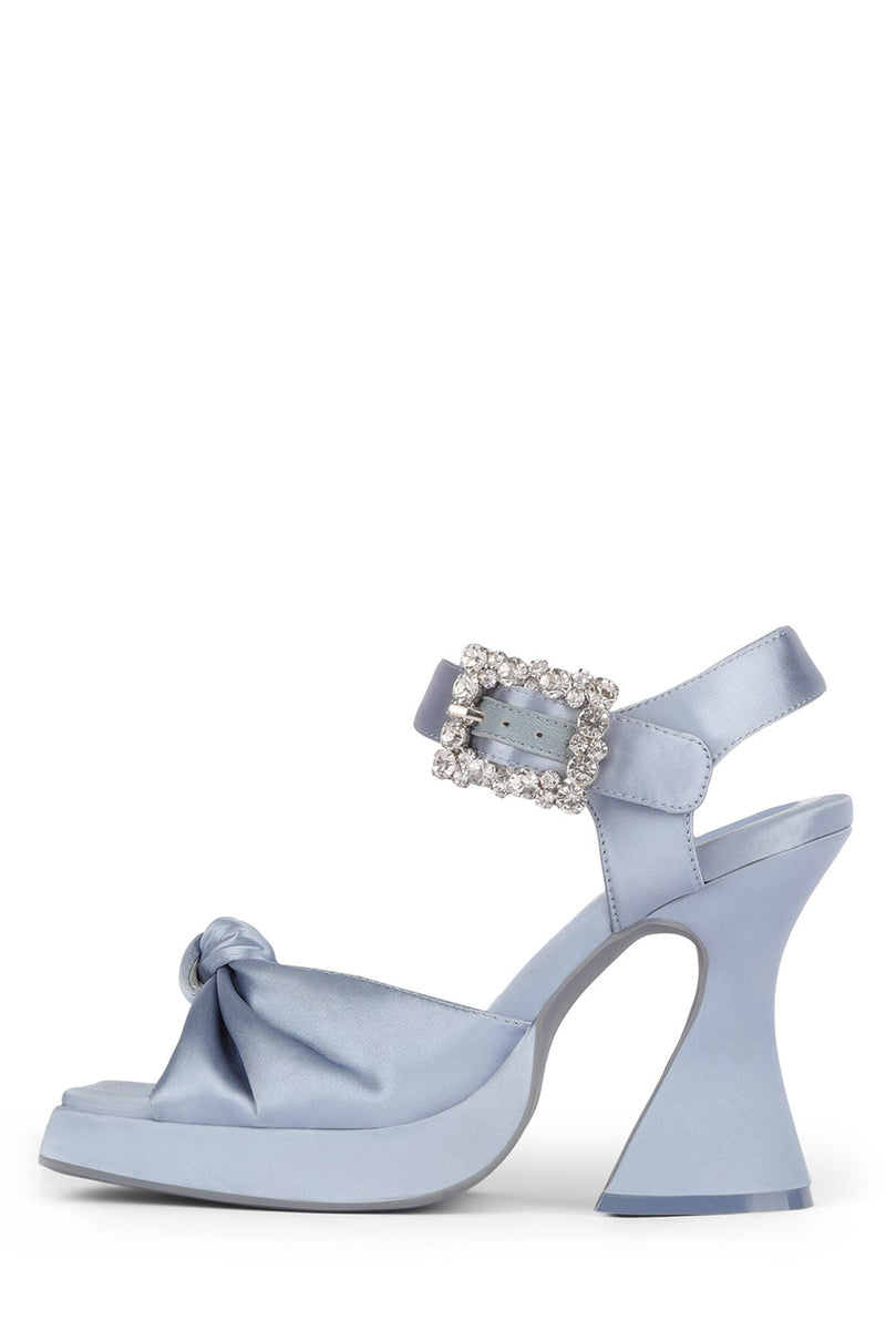 THE-CRAFT Platform Sandal HS Light Blue Satin 6