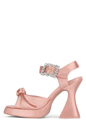 THE-CRAFT Platform Sandal HS Pink Satin 6