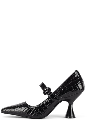 THETA-S Pump STRATEGY Black Croco Pat 6