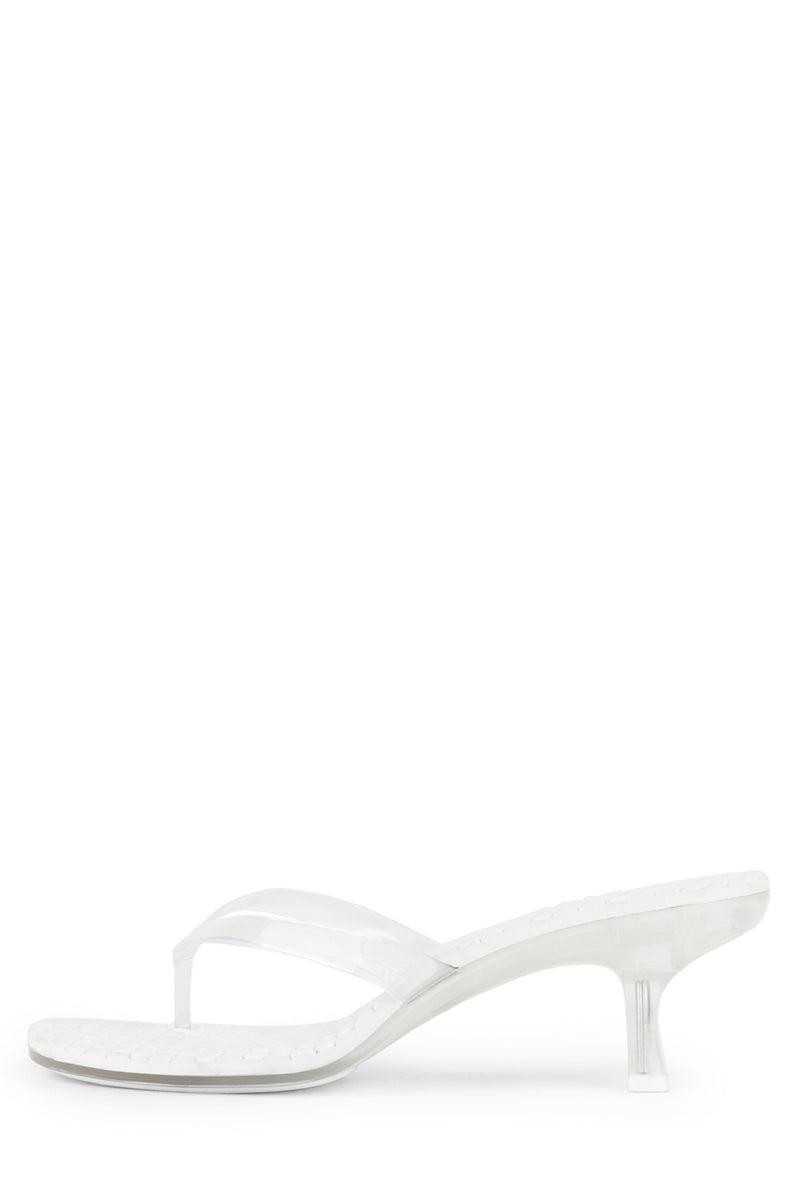 THONG-2 Heeled Sandal Jeffrey Campbell Clear 6