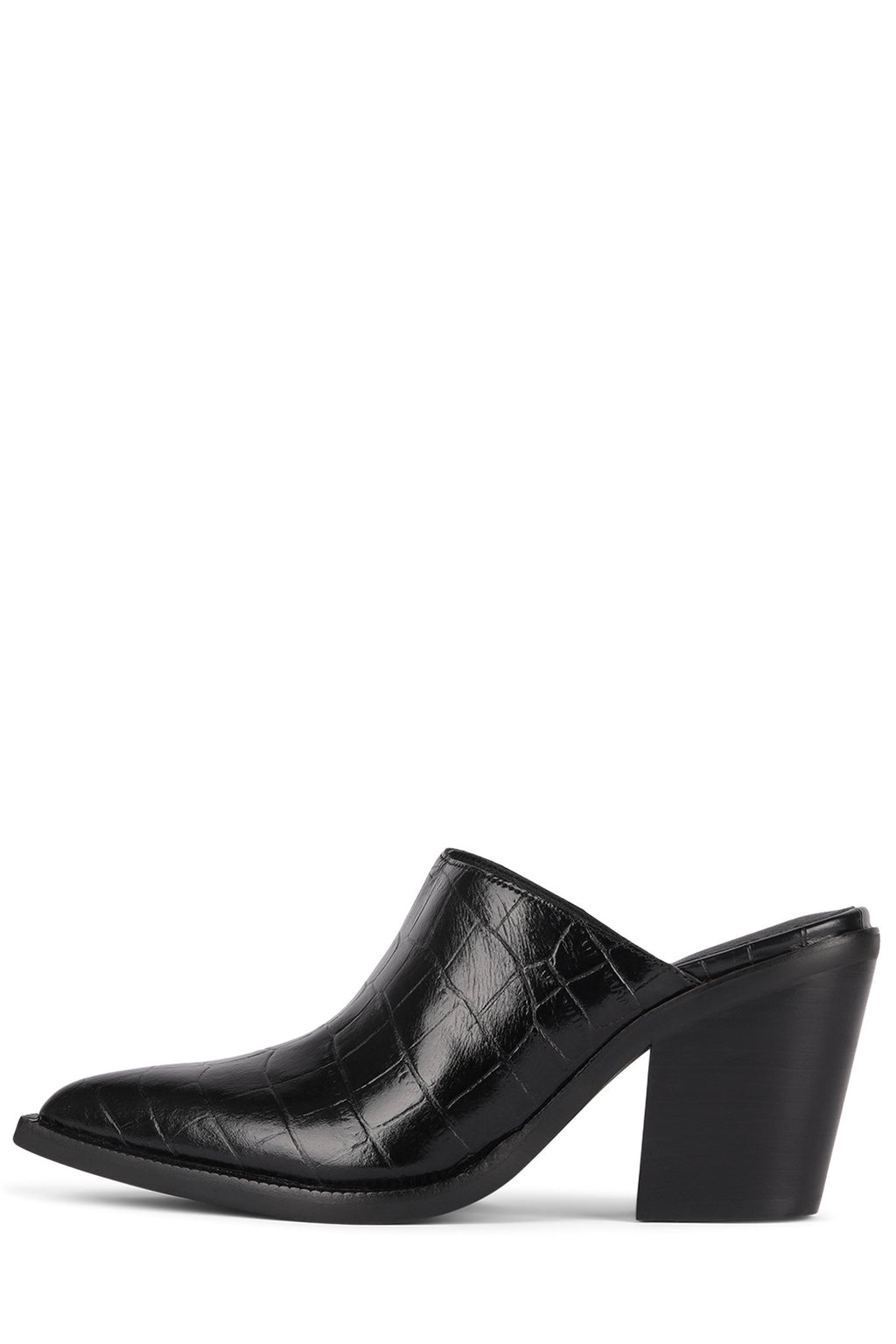 TONTO-2 Heeled Mule Jeffrey Campbell Black Croco 6