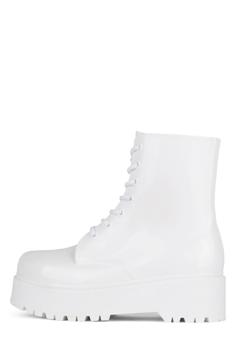 TORRENT-2 Rain Boot Jeffrey Campbell White Shiny 6