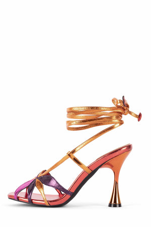 UNA-FLOR Heeled Sandal STRATEGY Bright Metallic Multi 6