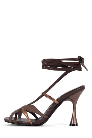 UNA-FLOR Heeled Sandal STRATEGY Brown Bronze Multi 6