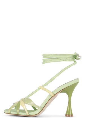 UNA-FLOR Heeled Sandal STRATEGY Green Yellow 6