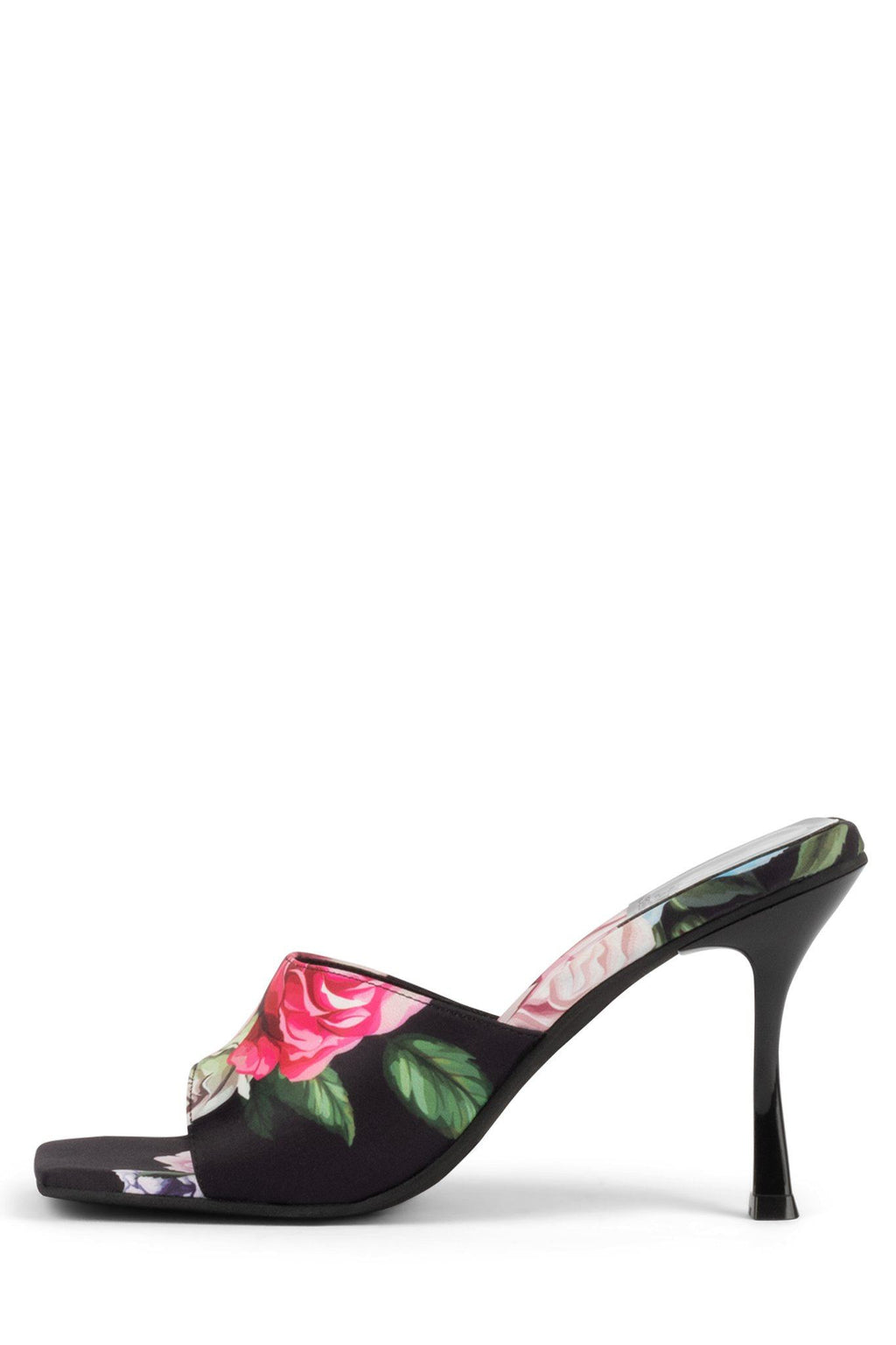 UTOPIC Heeled Mule YYH Black Blue Rose 6