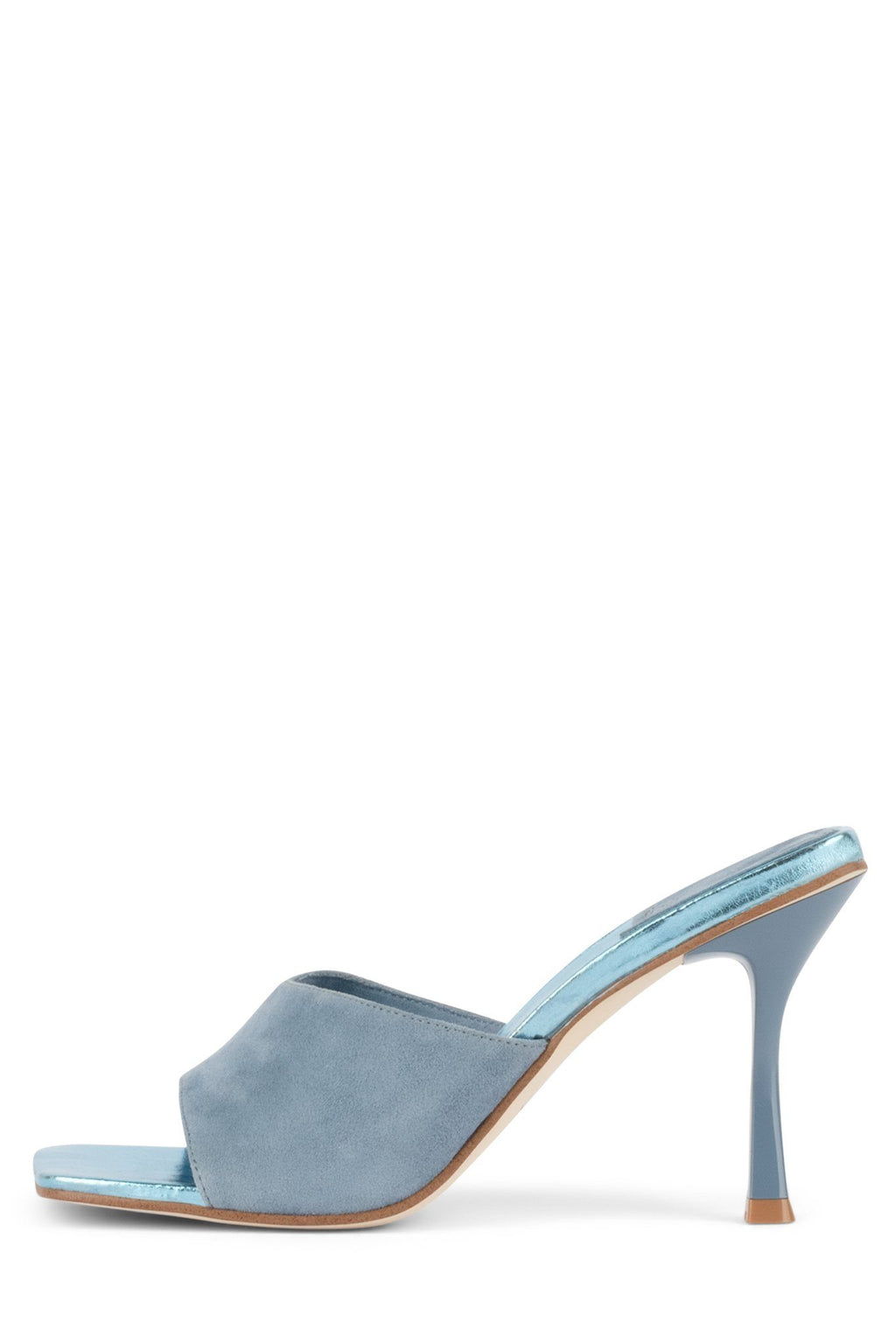 UTOPIC Heeled Sandal YYH Dusty Blue Suede Blue Metallic 6