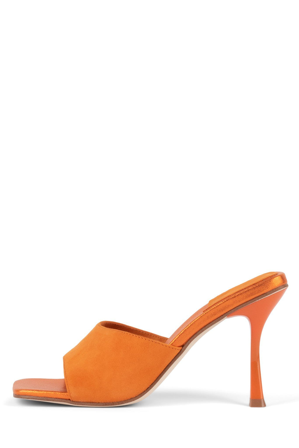 UTOPIC Heeled Sandal YYH Orange Suede Orange Metallic 6
