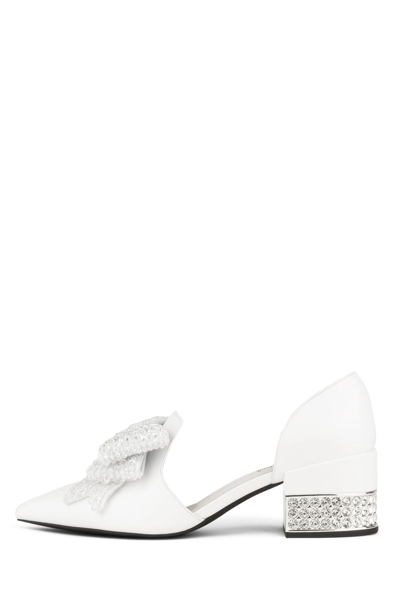 VALENTI-J Loafer Jeffrey Campbell White Silver 6