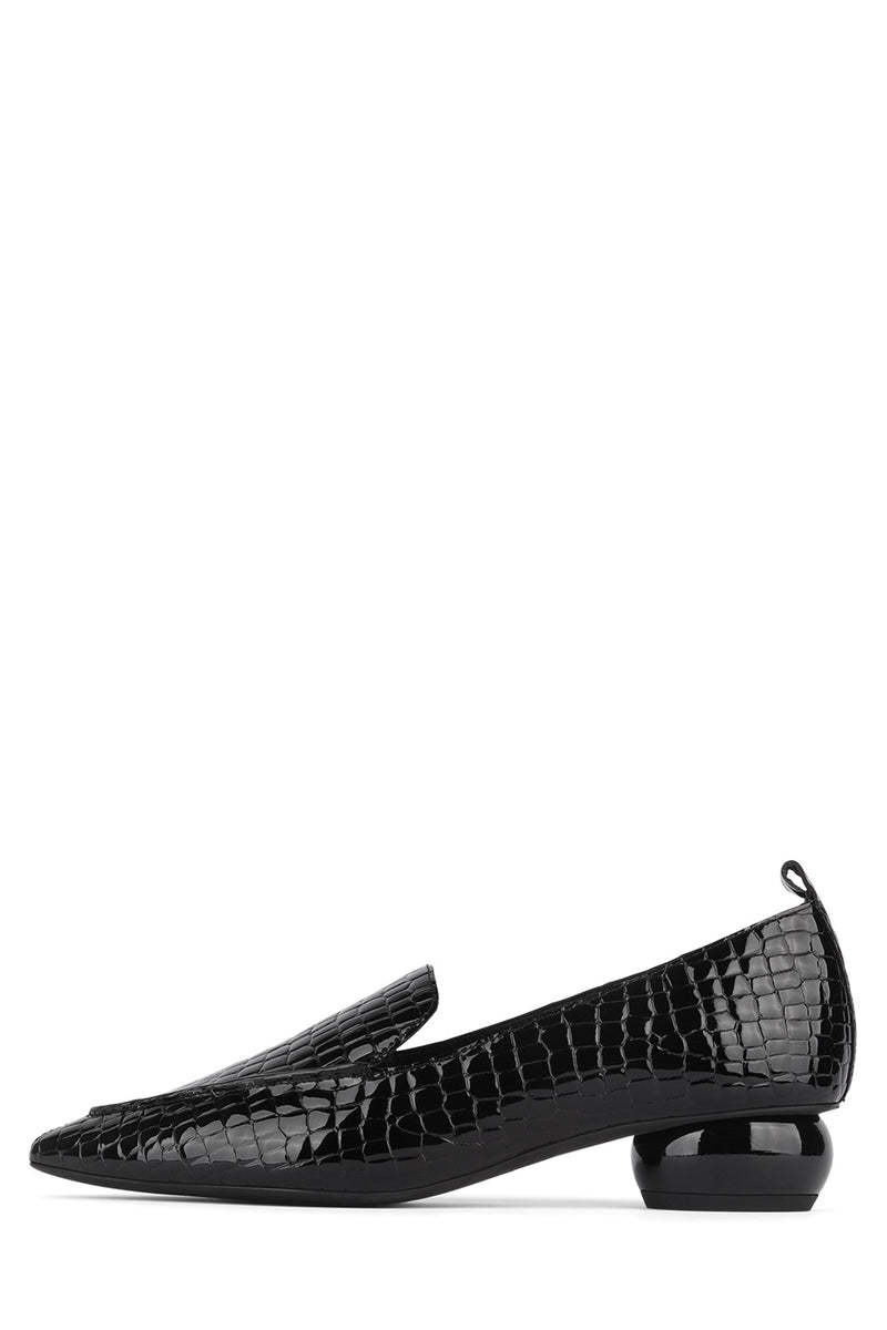 VIONA-WD Pump Jeffrey Campbell Black Patent Croco 6