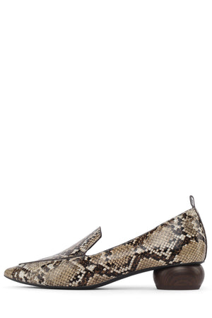 VIONA-WD Pump Jeffrey Campbell Brown Tan Snake 6