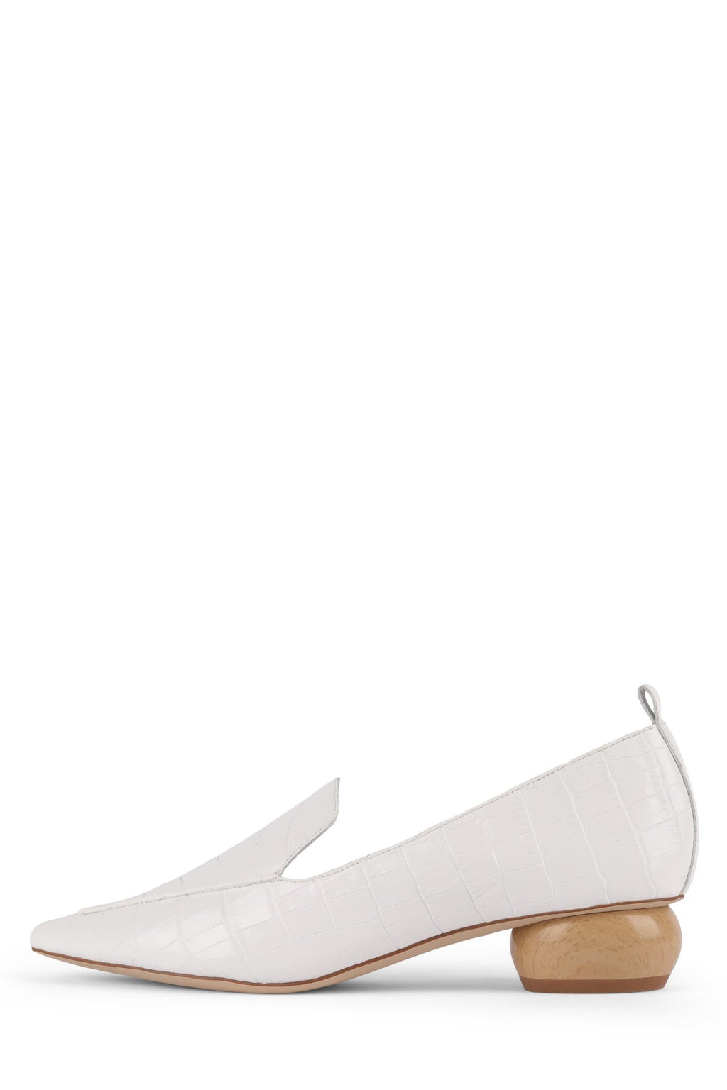 VIONA-WD Pump Jeffrey Campbell White Croco 5