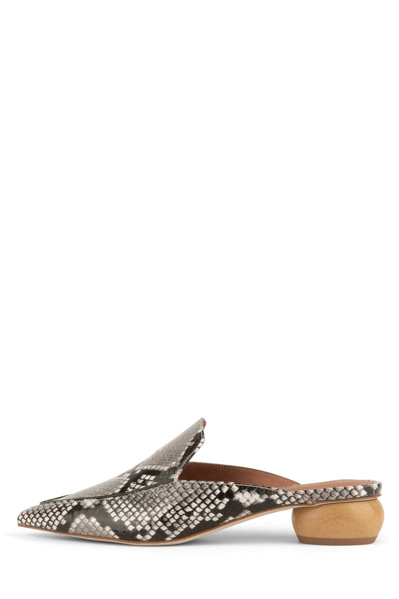 VIONIT-WD Heeled Mule Jeffrey Campbell Grey Snake 6