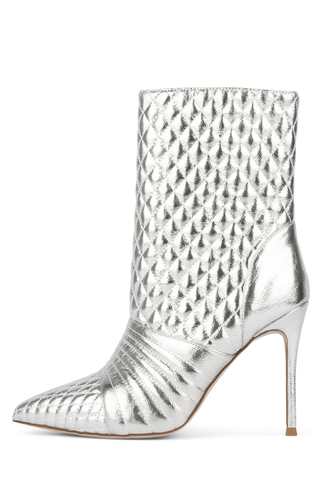 VIRUSES Heeled Bootie ST Silver 6