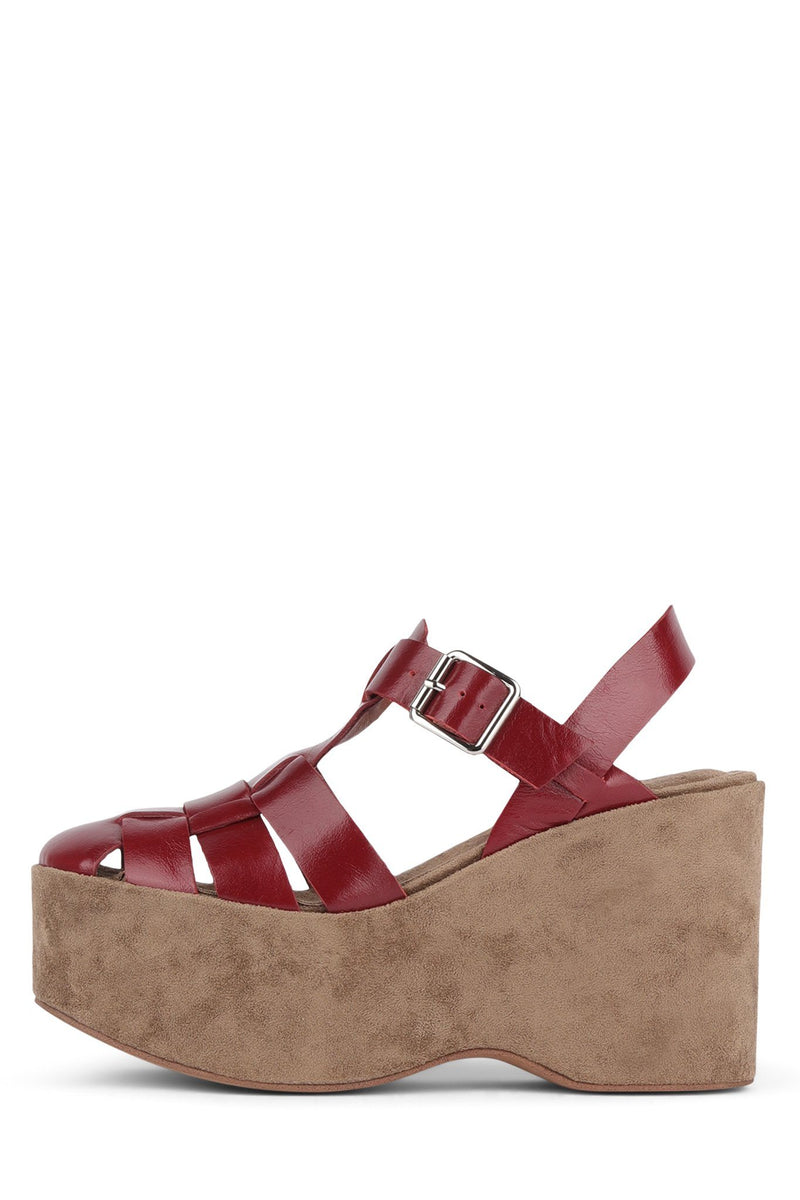 WEST-END Wedge Sandal YYH Red 6