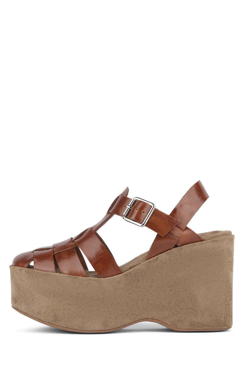 WEST-END Wedge Sandal YYH Tan 6