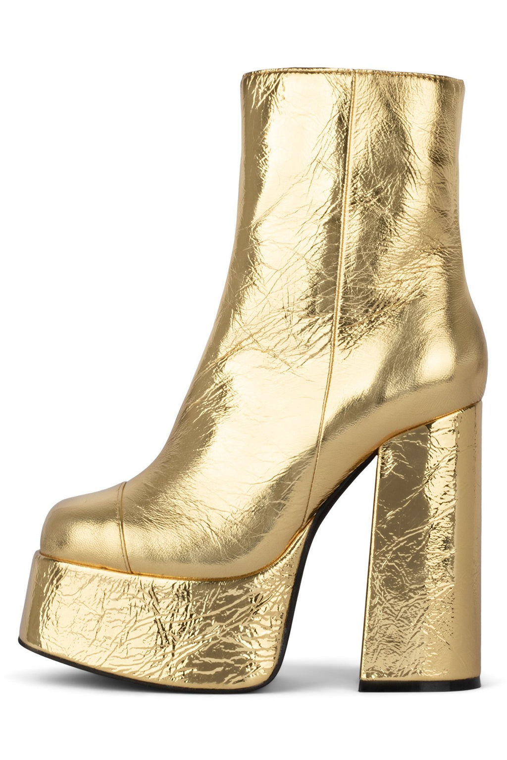 WIDOW-2NB Platform Boot HS Gold Crinkle 6