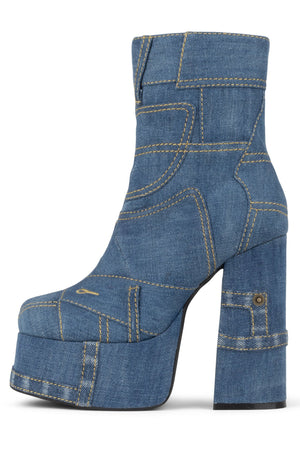 WIDOW-JN Platform Boot HS Blue Denim 6