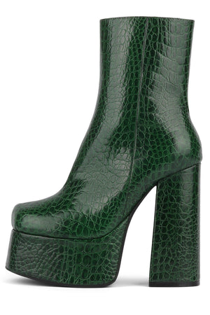 WIDOW-NB Platform Boot HS Green Gator 6