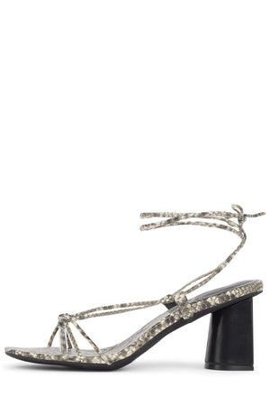 XIFENG Heeled Sandal Jeffrey Campbell Grey Snake 6
