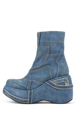 YASMIN Platform Boot HS Blue Denim 6