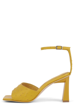 ZEBULON Heeled Sandal Jeffrey Campbell Yellow Ostrich 6