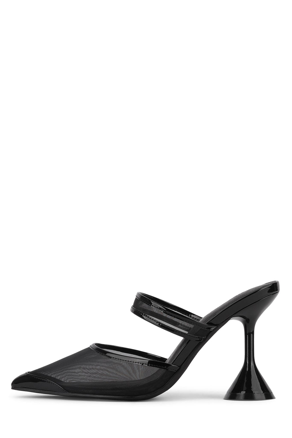ZIVOT-2MS Heeled Mule STRATEGY Black Mesh 6