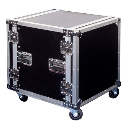 10U Flight Case On Wheels Removable Lids