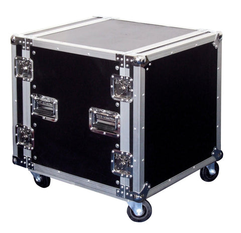 12U Flight Case On Wheels Removable Lids