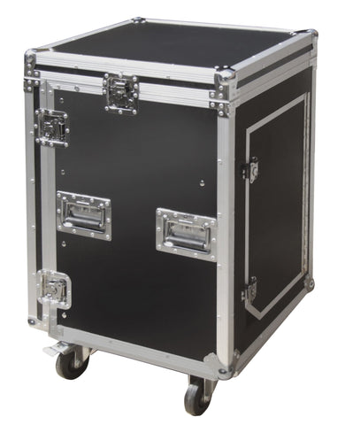 16U Flight Case Rack Plus 10U Mixer Section