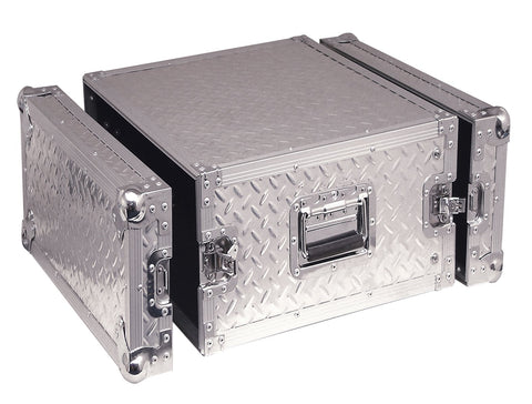 8U Full Flight Rack Case With Front/Back Doors