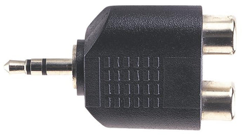 3.5mm Stereo Plug to 2x RCA Phono Sockets