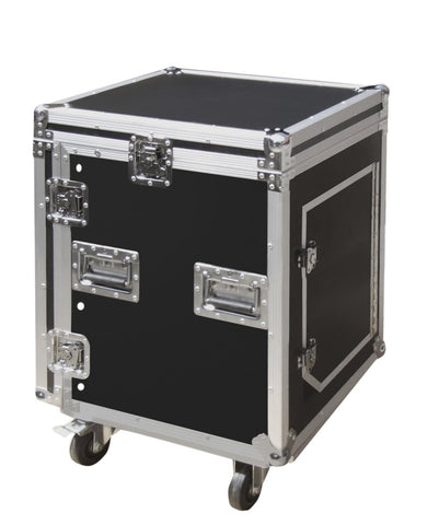 12U Flight Case Rack Plus 10U Mixer Section