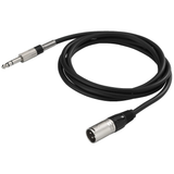 IMG Stageline 2M XLR M To Stereo Jack Cable