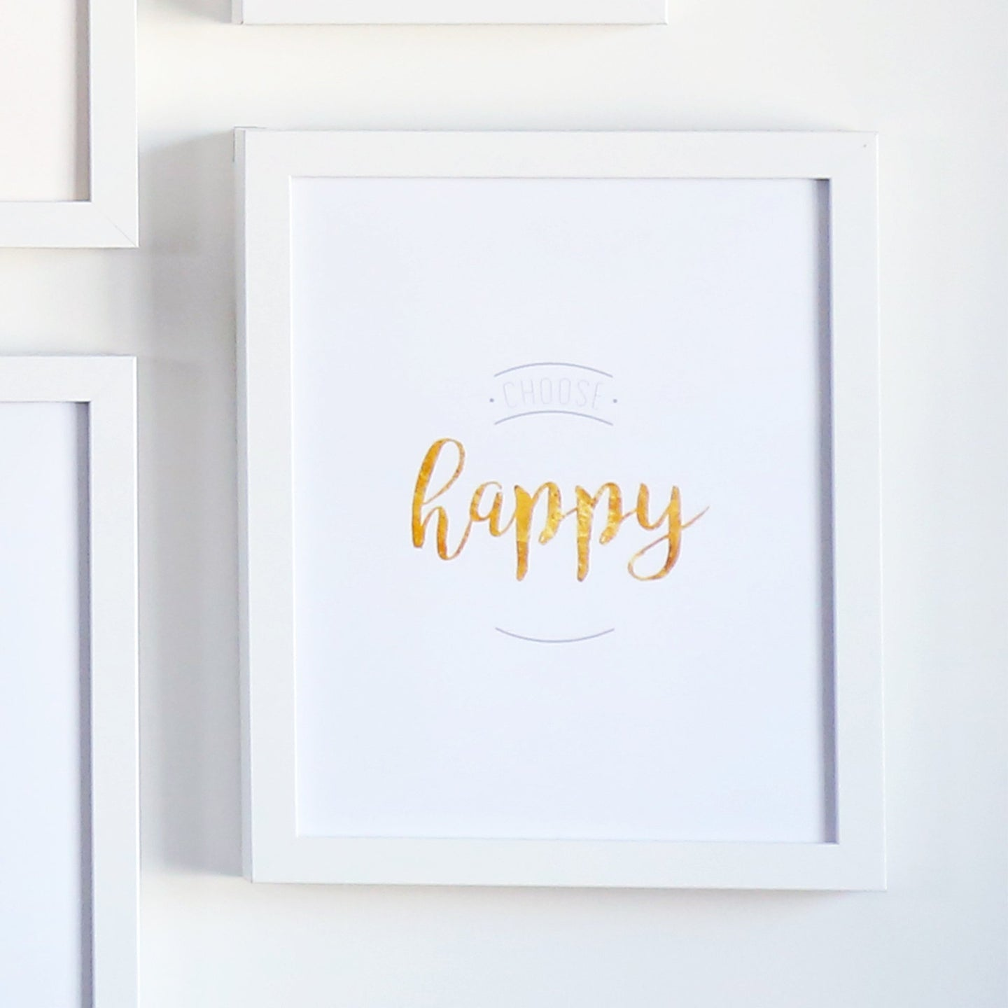 Choose Happy Printable Sign